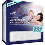 UltraBlock Twin Extra Long (Twin XL) Waterproof Mattress Protector - Premium Soft Cotton Terry Cover