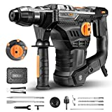 TACKLIFE 1-1/4 Inch SDS-Plus 12.3 Amp Rotary Hammer Drill, 7Joules Impact Energy, 4350BPM, 900RPM, 4...