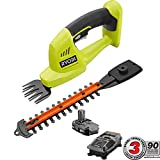 Ryobi 18-Volt Lithium-Ion Cordless Grass Shear and Shrubber Trimmer -...