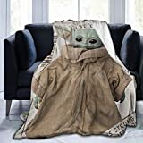 Baby Yoda Cartoon Anime Ultra-Soft Micro Fleece Blanket Throw for Sofa Bedding Home Travel Camping 40' × 50'