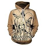 HOOMOLO Assassin's Creed Pullover Pull à Manches Longues Respirant à Capuche Respirant Sweatshirts à Motifs (Color : A05, Size : XL)
