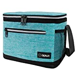 OPUX Lunch Box For Men, Insulated Lunch Bag Women, Shoulder Strap, Side Pockets | Soft Leakproof Lunch Pail for Boys, Kids, Girls | Turquoise Lunch Cooler Tote for School Work Office| Fits 14 Cans