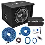 Skar Audio Single 12' Complete 1,200 Watt SDR Series Subwoofer Bass Package - Includes Loaded Enclosure with Amplifier