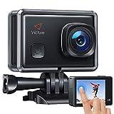 Victure Action Cam 4K Schermo a Touch 20MP WiFi Ultra Full HD 30M/98 Piedi Fotocamera Subacquea a Vista Regolabile Angolo 170 ° EIS 2 × 1350mAh Batterie...
