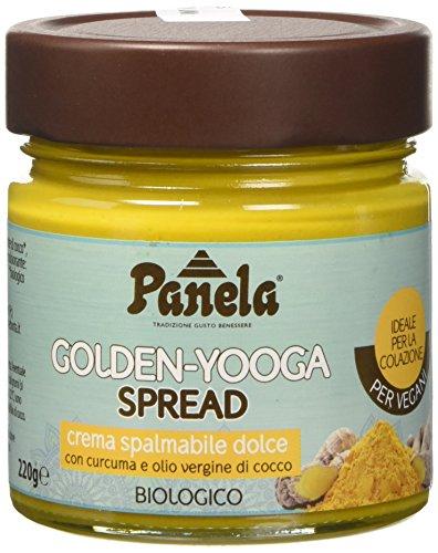 Panela Golden-Yooga Spread: Crema Spalmabile Dolce alla Curcuma - 6 Pezzi da 220 g