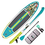 DRIFT 10'8' Inflatable Stand Up Paddle Board, SUP with Accessories | Pump, Lightweight Paddle, Fin & Backpack Travel Bag, Native