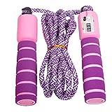 Dsaren Jump Rope Corde A Sauter avec Compteur Poignées Antidérapantes Skipping Rope pour Le Fitness Jeu d'Ecole ou à l'Activité Extérieure Adulte Enfant (Violet)