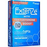 ExtenZe with Testosterone Boost 30ct Enhanced Stamina Energy and Strength Booster for Men Two Pills in One
