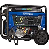 Westinghouse Outdoor Power Equipment WGen9500DF Dual Fuel Portable Generator-9500 Rated 12500 Peak Watts Gas or Propane Powered-Electric Start-Transfer Switch & RV Ready, CARB Compliant