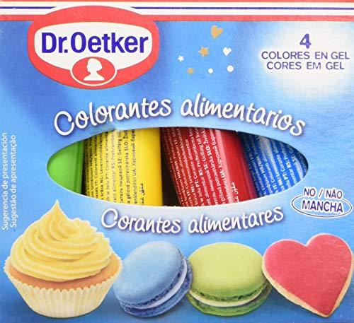 Dr. Oetker Colorantes Alimentarios, 4 x 10g