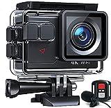 Cámara Deportiva 4K 20MP WiFi Cámara subacuática Ultra HD Impermeable 40M Action Camera 2.0'LCD...