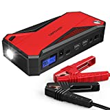 DBPOWER 800A 18000mAh Portable Car Jump Starter (up to 7.2L Gas, 5.5L Diesel Engine) Battery Booster with Smart Charging Port (Black/Red)