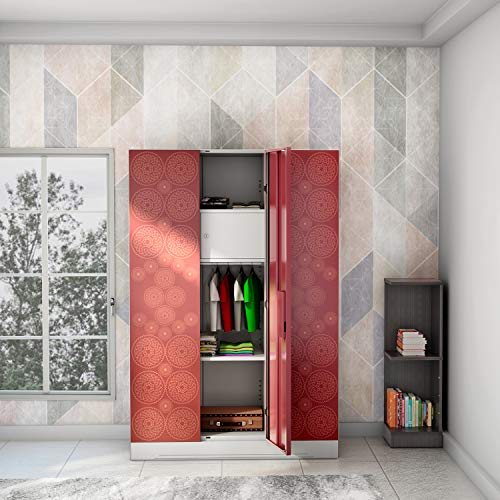 GODREJ INTERIO Slimline Fusion Steel Wardrobe / Almirah Russet & Copper Brown , 3 Doors