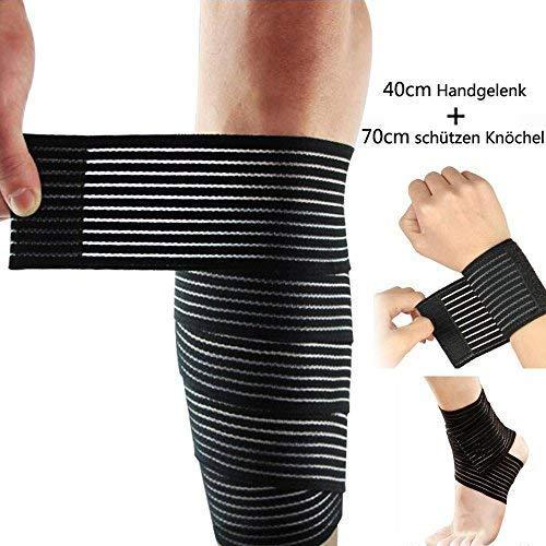 Lezed (2 pezzi) Fasciatura | Bendaggio del gomito | Fasciatura elastica regolabile per polso e...