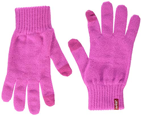 Levi's Ben Touch Screen Gloves Guanti, Rosa (Regular Pink 82), Small Donna