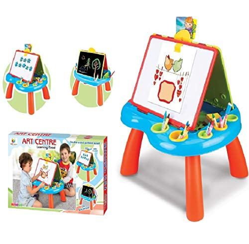 Toys Bhoomi STEM Educational Double-Sided Kid's Portable Learning Easel with Magnetic Drawing...
