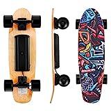 Kulzer Skateboard électrique avec télécommande, 25,4 '' Longboard...