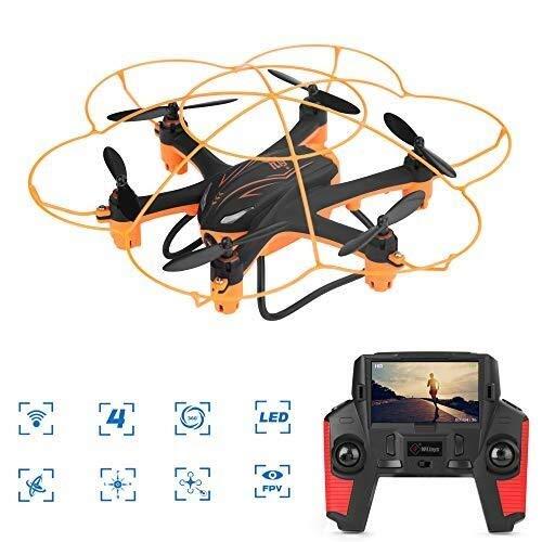 RENJUN Drone Remoto, Mini Drone Wireless for Videocamera HD, Vibrazione 3D / modalit Senza Testa/Pulsante Singolo Indietro/Bambini E Principianti fuco
