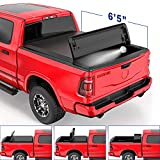 MOSTPLUS Soft Quad FOLD Truck Bed Tonneau Cover Compatible for 2002-2020 Dodge Ram 1500/2003-2020...