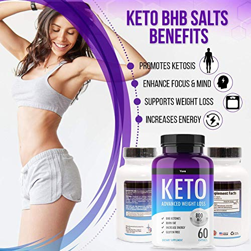 QFL Yuva Keto Diet Pills - Utilize Fat for Energy with Ketosis - Boost Energy & Focus, Manage Cravings, Support Metabolism - Keto BHB Supplement for Women and Men - 90 Day Supply 3