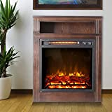 LifeSmart 28 Inch Infrared Fireplace Heater, Brown