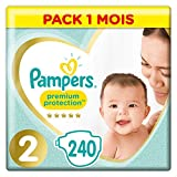 Couches Pampers Taille 2 (4-8 kg) - Premium Protection Couches, 240...
