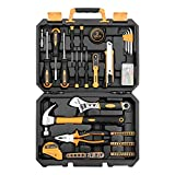 DEKOPRO 100 Piece Home Repair Tool Set,General Household Hand Tool Kit with Plastic Tool Box Storage