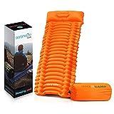 Backpacking Air Mattress Sleeping Pad - Waterproof Lightweight Sleep Pad Inflatable Camping Sleeping...