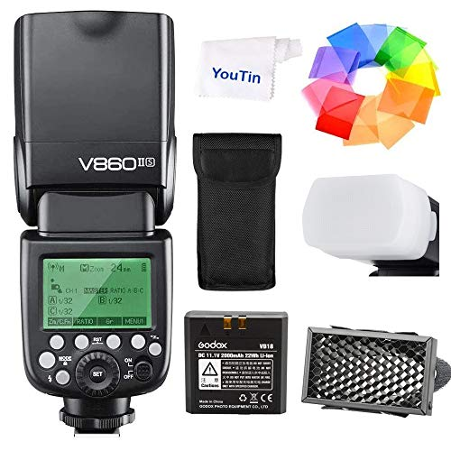 GODOX V860IIS カメラのフラッシュ リチウム電池付き Sony DSLRカメラ用ストロボ GN60 2.4G TTLオートフラ...