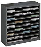 Safco Products E-Z Stor Literature Organizer, 36 Compartment, 9221BLR, Black Powder Coat Finish,...