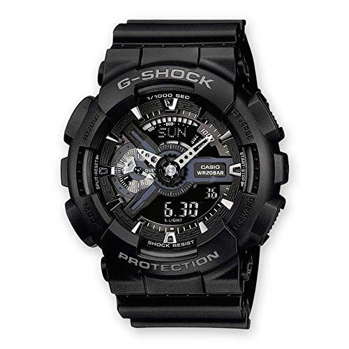 Casio G-Shock Analog-Digital Herren-Armbanduhr GA-110 blau schwarz, 20 BAR