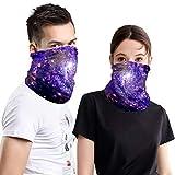 Wocharm 2PCS Seamless Face Mask Bandanas, Headwrap Scarf Headband for Outdoors Sports (7# Group)
