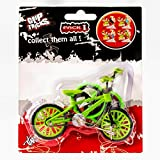 Grip and Tricks - Green Finger BMX Freestyle with 2 Extra Toy Bike Wheels and 1 Finger Bikes Tool - Pack 1 Finger Toy for 6+ Years Old Kid