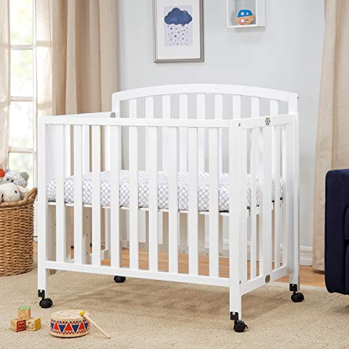 Product Image 3: DaVinci Dylan Folding Portable 3-in-1 Mini Crib and Twin Bed in White, Greenguard Gold Certified