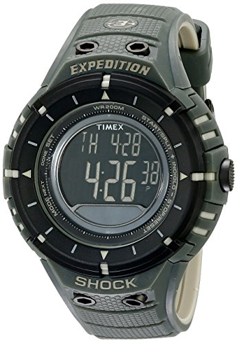 Timex Men's T49612 Expedition Shock Digital Compass Olive/Black Resin Strap Watch