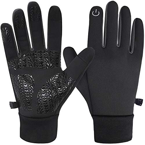 Winter Gloves Touch Screen Gloves - Water Resistant, Windproof, Palm Grips