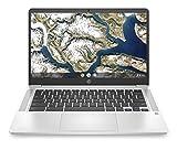 HP - PC Chromebook 14a-na0000sl, Intel Pentium Silver N5030, RAM 8 GB, eMMC 128 GB, Sistema Operativo Chrome OS, Google Play Store, Schermo FHD 14', Audio Bang & Olufsen, USB-C, USB, Webcam, Argento
