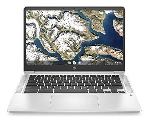 "HP - PC Chromebook 14a-na0000sl, Intel Pentium Silver N5030, RAM 8 GB, eMMC 128 GB, Sistema Operativo Chrome OS, Google Play Store, Schermo FHD 14"", Audio Bang & Olufsen, USB-C, USB, Webcam, Argento"