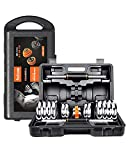Liadon Adjustable Dumbbells Set with Rack Stand Fitness Barbell for Womens Body Building