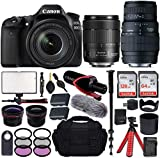 Canon EOS 80D DSLR Camera with EF-S 18-135mm f/3.5-5.6 is USM + Sigma 70-300mm f/4-5.6 DG Macro Lens...