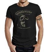 GASOLINE BANDIT Original Gentlemen Rider Diseno Camiseta: Gentlemen No Bike - No Life-XL