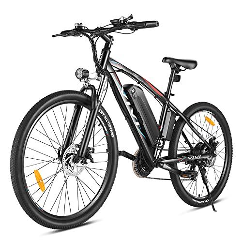 VIVI Elektrofahrrad 27,5 Zoll E-Bike Herren Damen, 500W Ebike Mountainbike mit Abnehmbar 48V/10,4Ah Lithium-Batterie, Shimano 21 Gang-Schaltung Elektrofahrrad Pedelec, 32km/h E-MTB