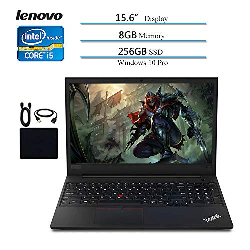 Lenovo 2020 Premium Flagship ThinkPad E590 15.6 Inch HD Laptop (8th Gen Intel Core i5-8265U up to 3.9 GHz, 8GB DDR4 RAM, 256GB SSD) Bluetooth 5.0, HDMI, Windows 10 Pro