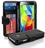Cadorabo Coque pour Samsung Galaxy S5 / S5 Neo en Noir DE Jais - Housse...
