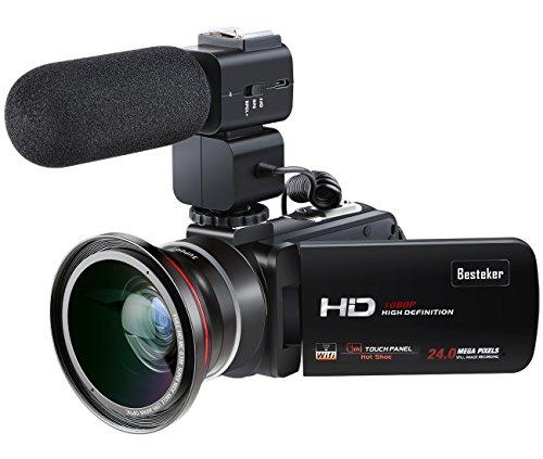 Besteker 1080p Wifi Full HD Portable Camcorder