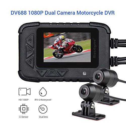 Blueskysea DV688 motorcycle Dash Cam 1080p Dual Lens motorcycle recording camera schermo LCD 6 cm IP67 (Dashcamera per auto)