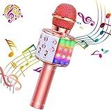 ShinePick Microphone Karaoke Sans Fil, Micro Karaoké Bluetooth Portable...