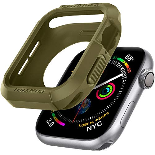 【Spigen】 Apple Watch ケース 40mm 【 Series SE/Series 6 / Series 5 / Series 4 対応 】 ニューカラー 落下 衝撃 吸収 タフネスデザイン ラギッド・アーマー 061CS26014 (オリーブ・グリーン)