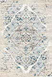 4620 Distressed Cream 6'5x9'2 Area Rug Carpet Large New