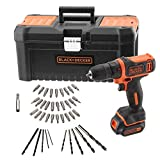 BLACK+DECKER BDCDD121KA-QW Perceuse-Visseuse sans fil - 1 batterie - 26 Nm...